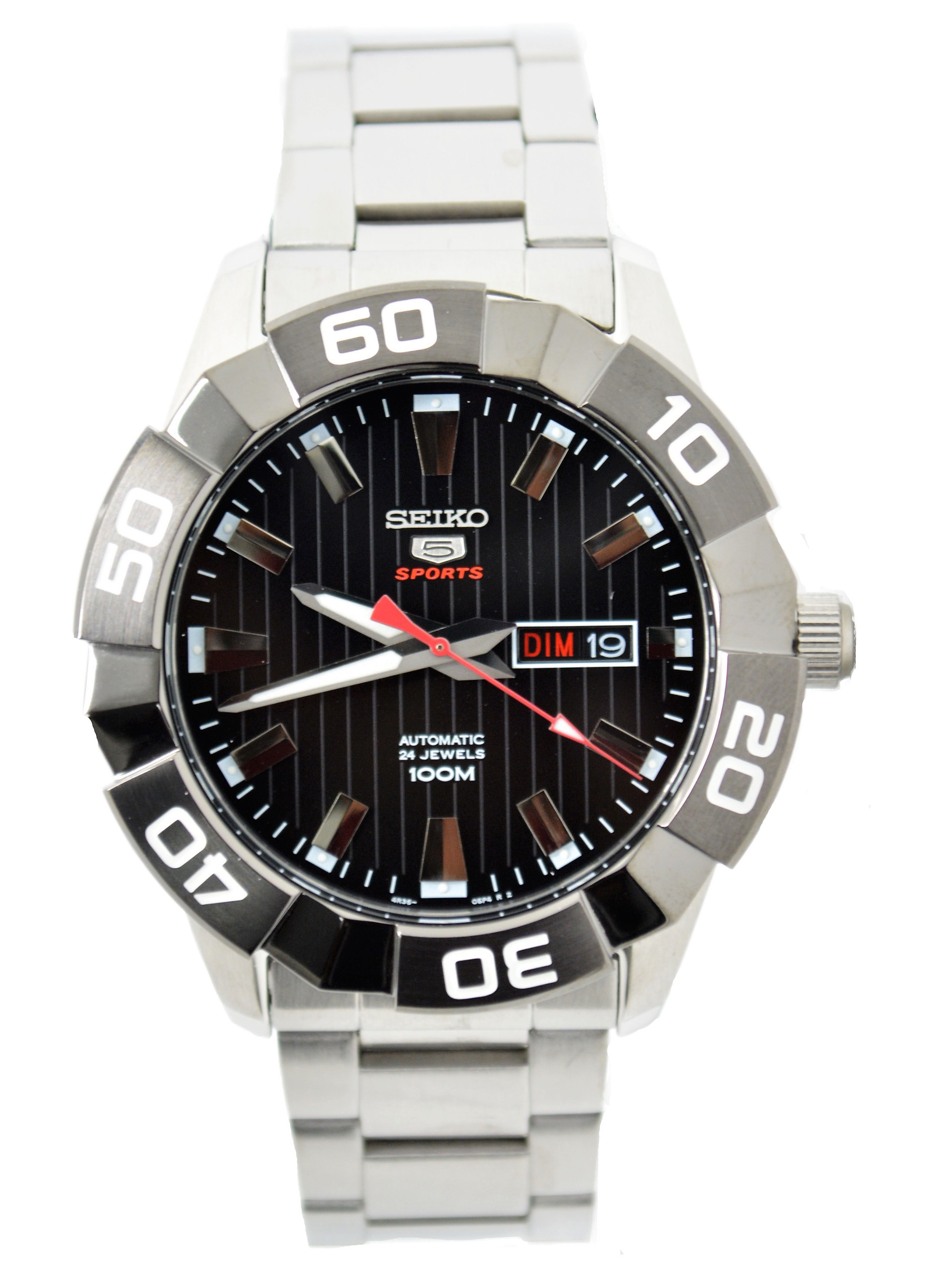 1009878445e5 SRPA55 Seiko 5 Automatic SRPA55 Black Dial Stainless Steel Men s Watch