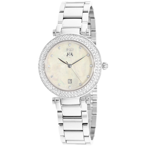 JV5313 Jivago Womens Parure Silver Band Peach Mother of Pearl Dial