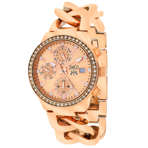 JV1247 Jivago Womens Levley Swiss  Quartz  Rose Gold Band Rose gold Dial