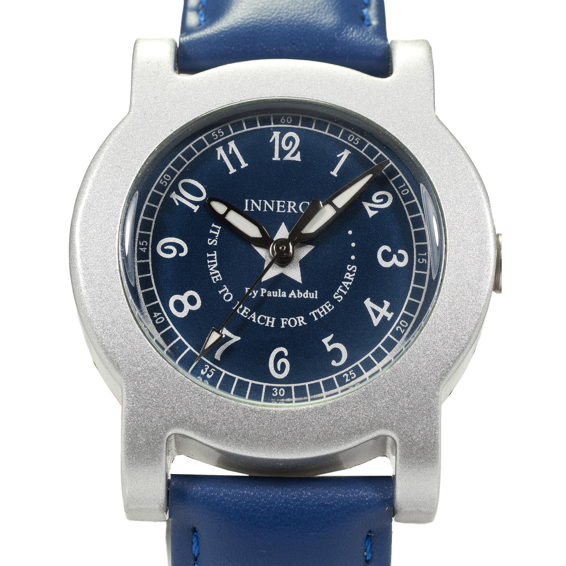 Innergy Swiss Made Timepiece Blue Leather Strap