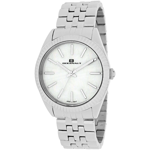 OC7410 Oceanaut Womens Chique Silver Band White MOP Dial