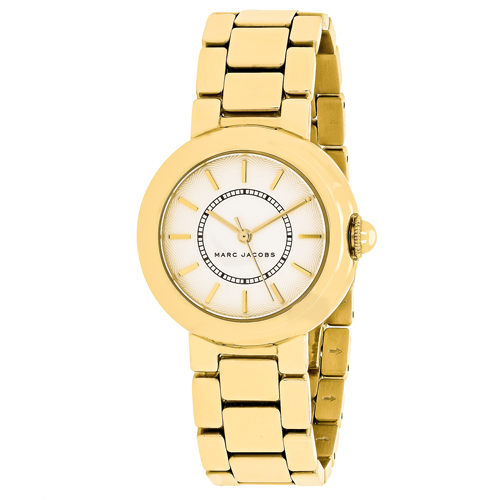 MJ3465 Marc Jacobs Womens Courtney Gold tone Band White Dial