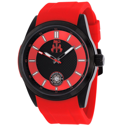 JV7133 Jivago Mens Rush Red Band Black Dial