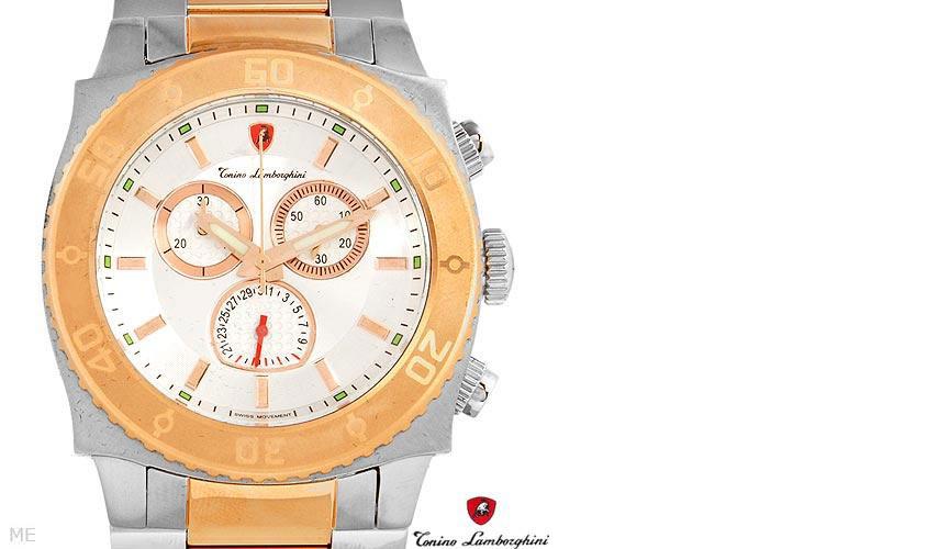 01278531/ TONINO LAMBORGHINI EN040.502 Brand New Gentlemens Chronograph Date Watch