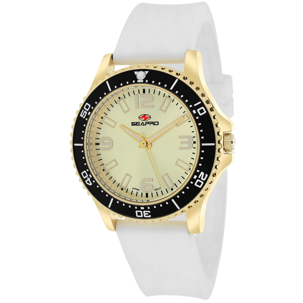 SP5419 Seapro Womens Tideway White Band Gold Dial