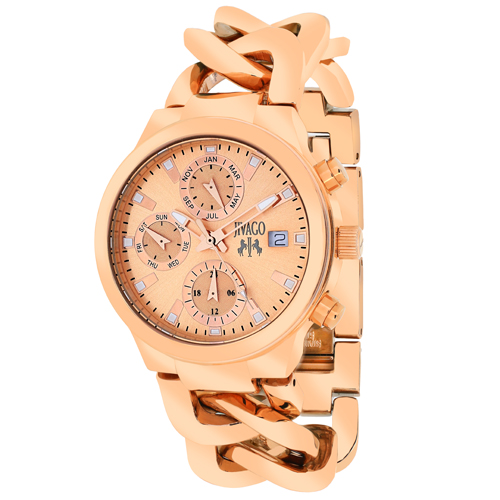 JV1244 Jivago Womens Levley Rose gold Band Rose gold Dial