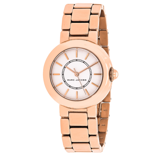 MJ3466 Marc Jacobs Womens Courtney Rose Gold tone Band White Dial