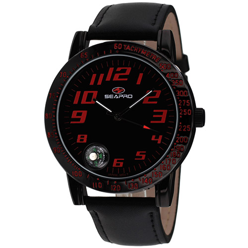 SP5114 Seapro  Mens Raceway Black Band Black Dial