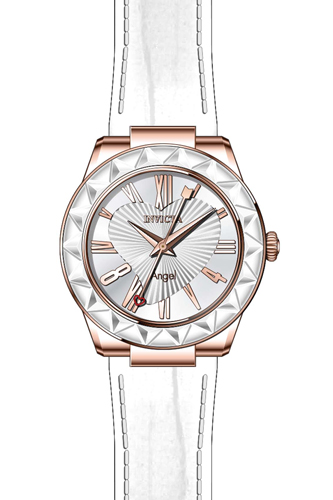 22541 Invicta Womens Angel  White Band Silver Dial