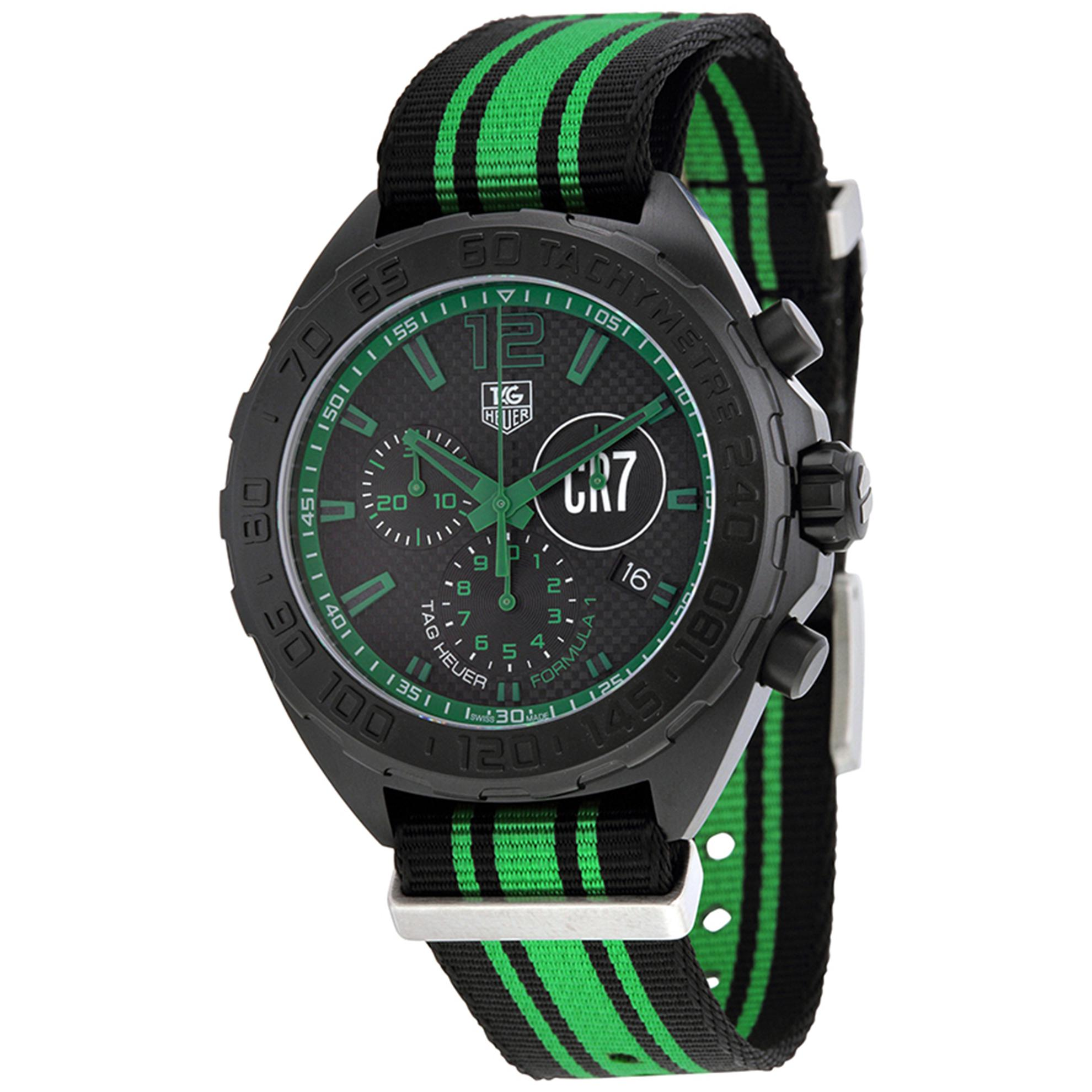 Tag Heuer CAZ1113.FC8189 TAG Heuer Formula 1 Chronograph Black/Green Strap