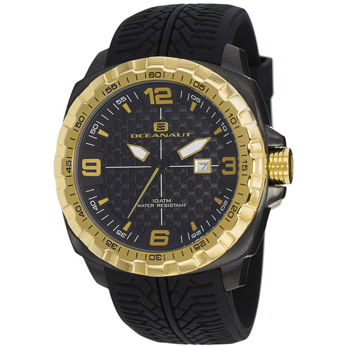 OC1112 Oceanaut Mens Racer Black Band Black Dial
