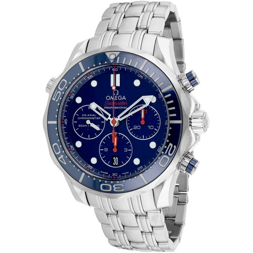 O21230445003001 Omega Seamaster Chronograph Automatic Blue Dial