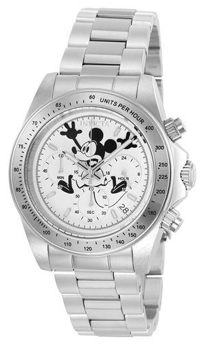 22863 Invicta Mens Disney Limited Edition  Steel Band White Dial
