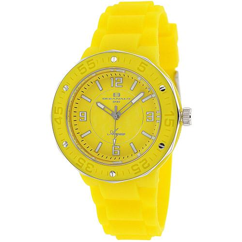 OC0213 Oceanaut Womens Acqua Yellow Band Yellow Dial