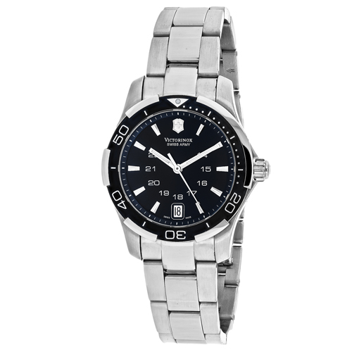 241305 Swiss Army Womens Alliance Silver Band Black Dial