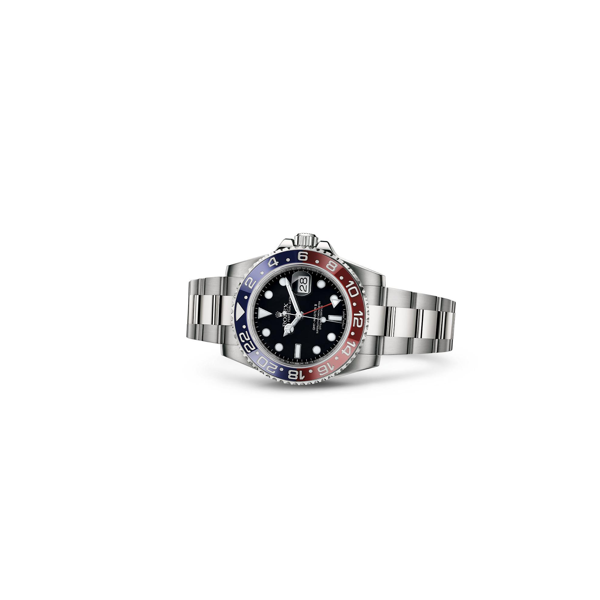 Rolex B00VAUU3GU B00VAUU3GU Rolex GMT-Master II White Gold Pepsi Red & Blue Ceramic Unworn 116719 Watch 2016