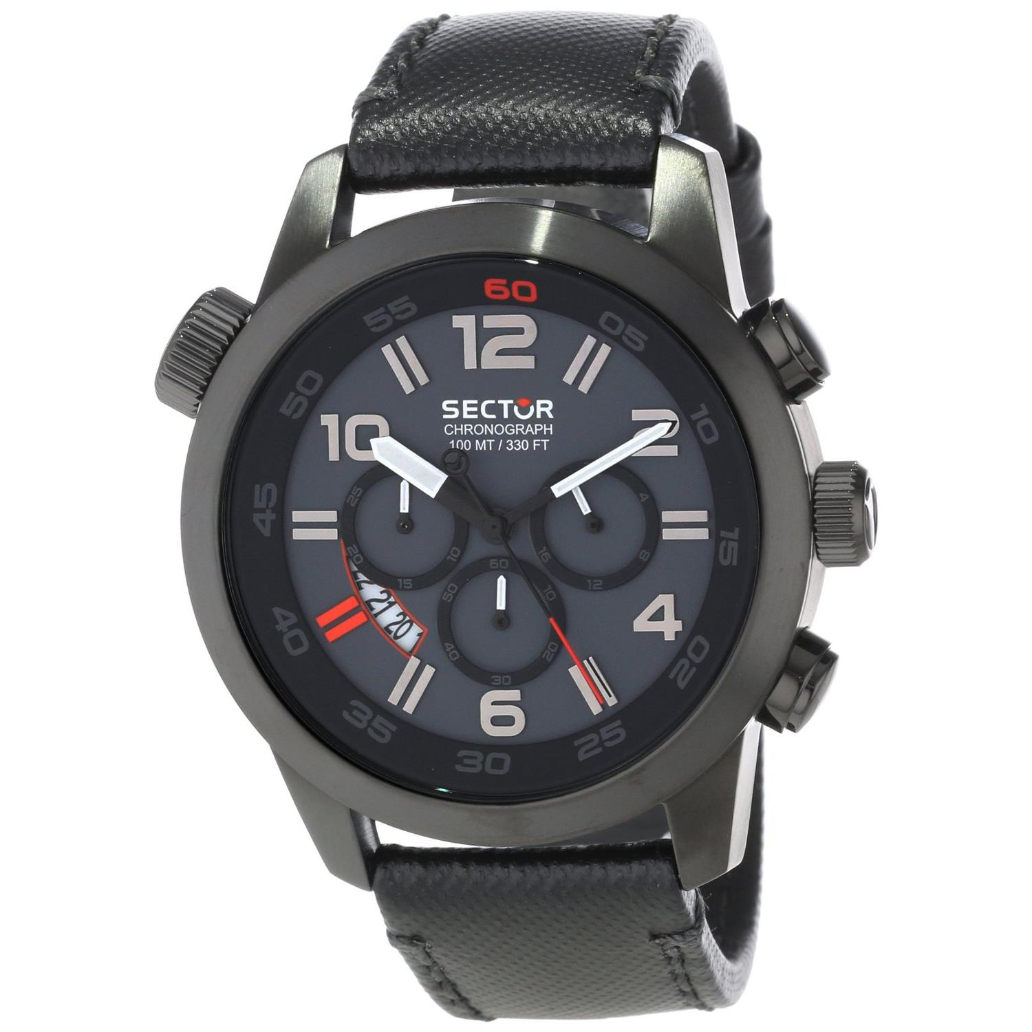 3271702025 Sector Urban Oversize Chronograph Black IP Black Strap