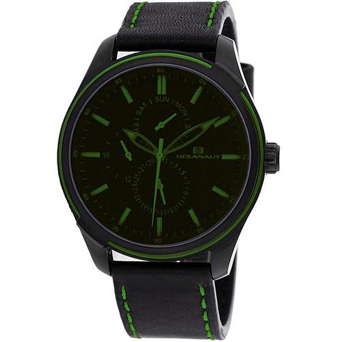 OC8115 Oceanaut Mens Night Black Band Green tinted Black Dial