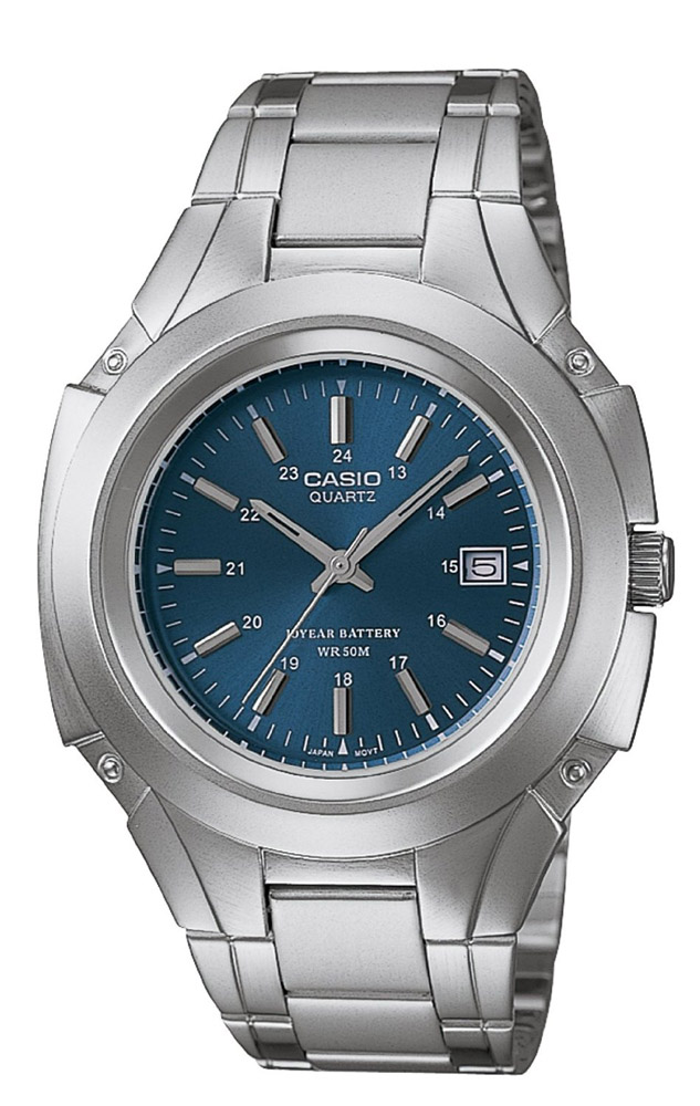 MTP-3050D-2AV Casio Mens Classic Quartz Silver Band Blue Dial