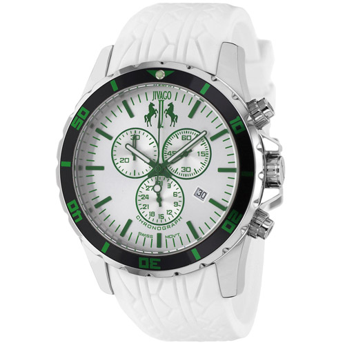 JV0126 Jivago Mens Ultimate White Band White Dial
