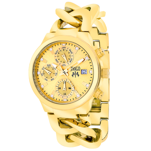 JV1242 Jivago Womens Levley Gold tone Band Gold tone Dial