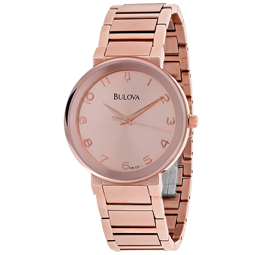 97L127 Bulova Womens Classic 97L127 Quartz Rose Gold Band Rose gold Dial