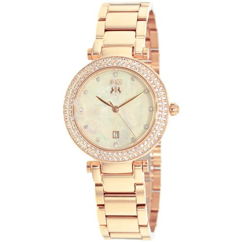JV5312 Jivago Womens Parure Rose gold Band Peach Mother of Pearl Dial
