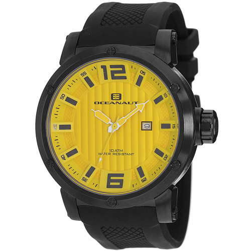 OC2116 Oceanaut Mens Spider Black Band Yellow Dial