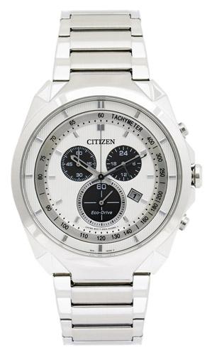 AT2150-51A Citizen Mens Eco-Drive  Quartz Silver Band Silver Dial