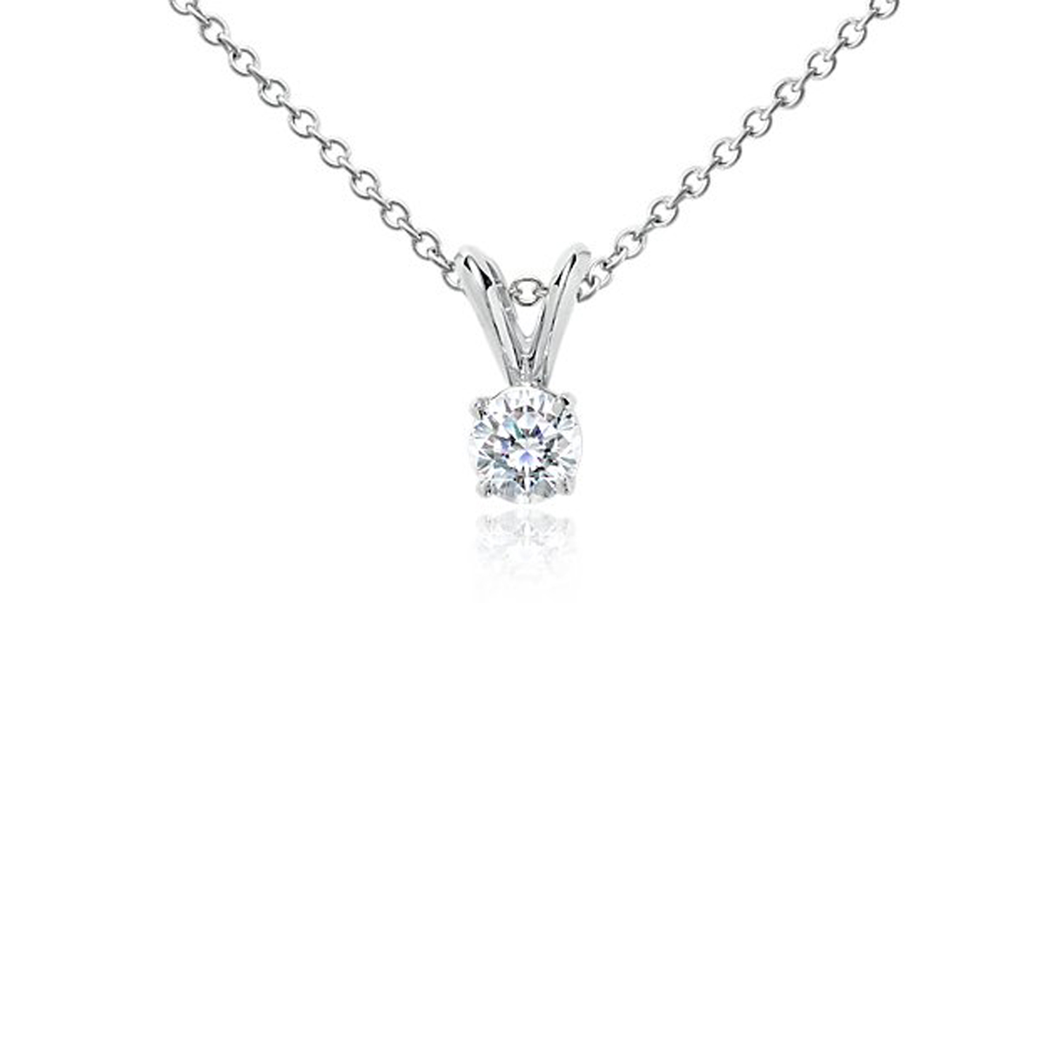 PEND50 Diamond Pendant .50 Carat weight Minimum-White gold -SI2-G in color-With certificate