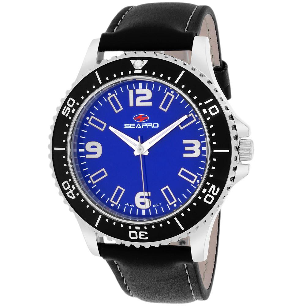 SP5312 Seapro Mens Tideway Black Band Blue Dial