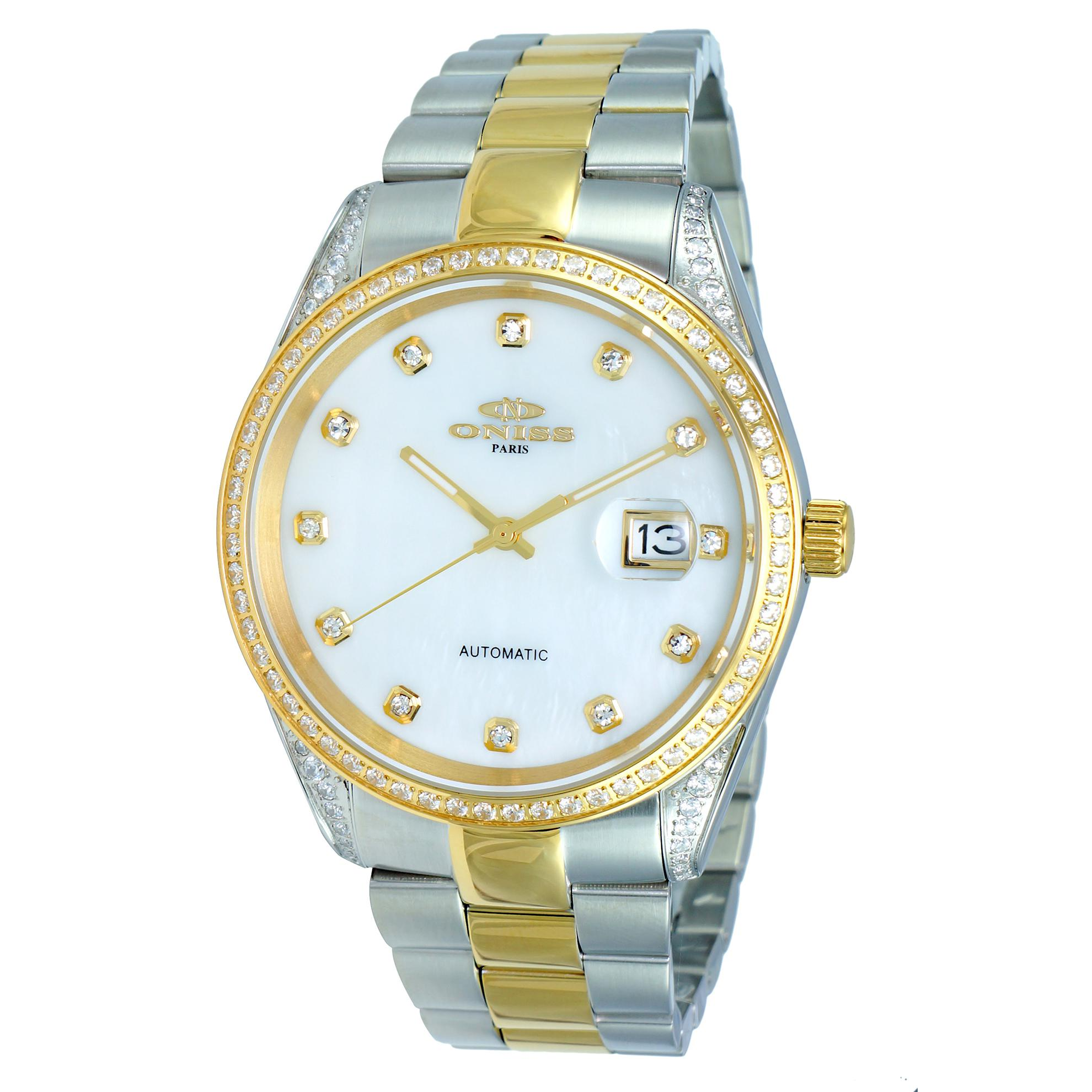 Oniss ON3883-2TWT Oniss RX Automatic Two-Tone White Mother of Pearl