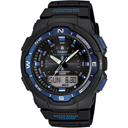 SGW-500H-2BV Casio Mens Sport Gear Black Band Black Digital-Analog dial Dial