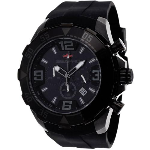 SP1122 Seapro Mens Diver Black Band Black Dial