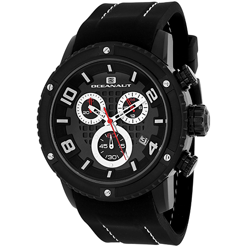 OC3124R Oceanaut Mens Impulse Sport Black Band Black Dial