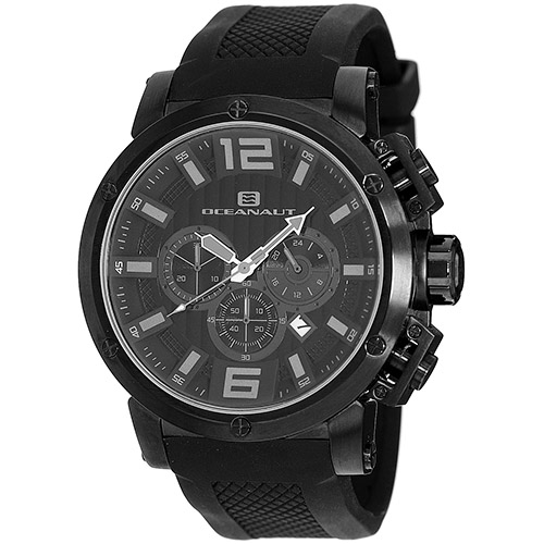 OC2122 Oceanaut Mens Spider Black Band Black Dial