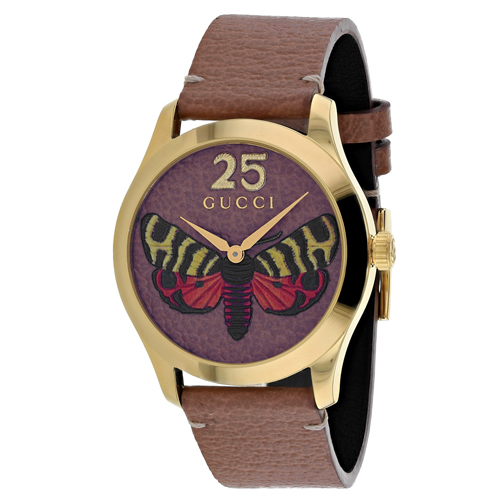 3d54a1fccab11 Gucci YA1264063 Gucci Womens G-Timeless YA1264063 Brown Band Brown Dial
