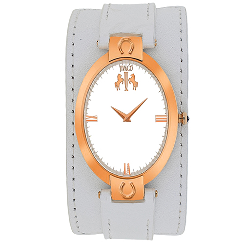 JV1833 Jivago Womens Good luck White Band Silver Dial