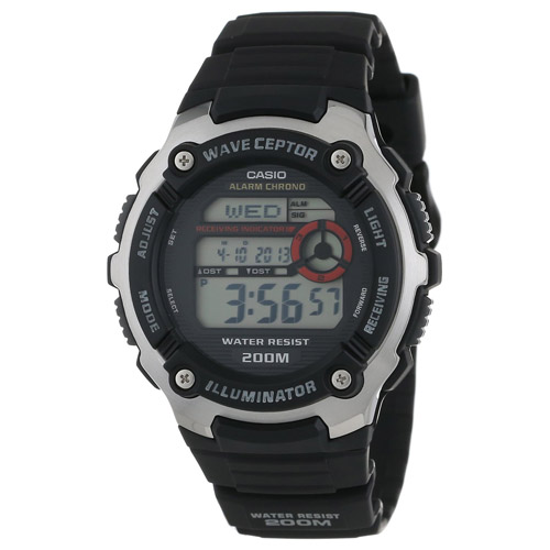 WV-200A-1AV Casio Mens Classic Black Band Digital Dial