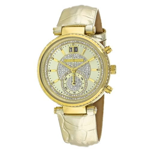 MK2444 Michael Kors Womens Sawyer Gold Band Gold Dial