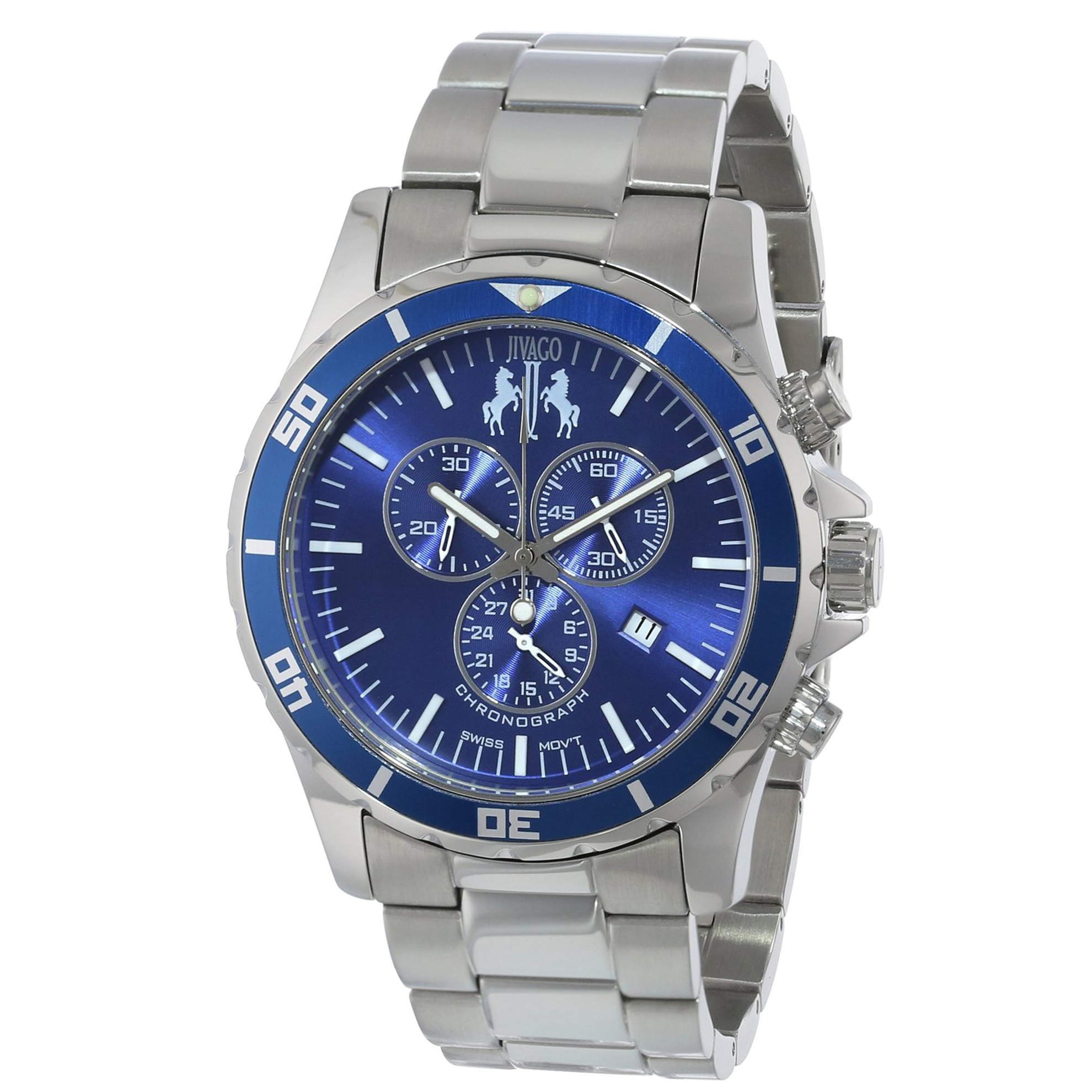 Jivago JV6127 Jivago Men's Ultimate Diver Swiss Chronograph Blue Dial