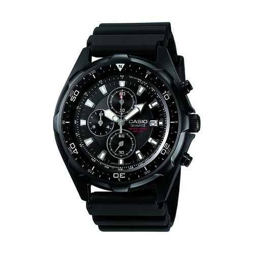 AMW-330B-1AV Casio Mens Classic Quartz Black Band Black Dial
