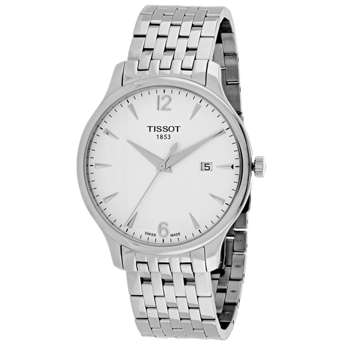 T0636101103700 Tissot Mens Tradition T0636101103700 Silver Band White Dial