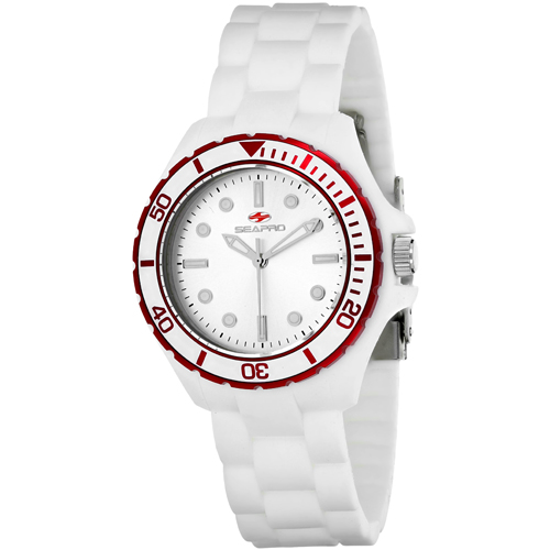 SP3215 Seapro Womens Spring White Band Silver Dial