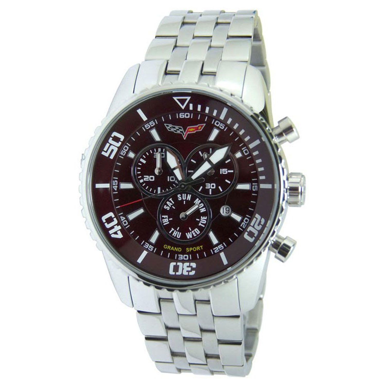 CR215-MR Corvette M Grand Sport Swiss Chronograph Maroon Dial