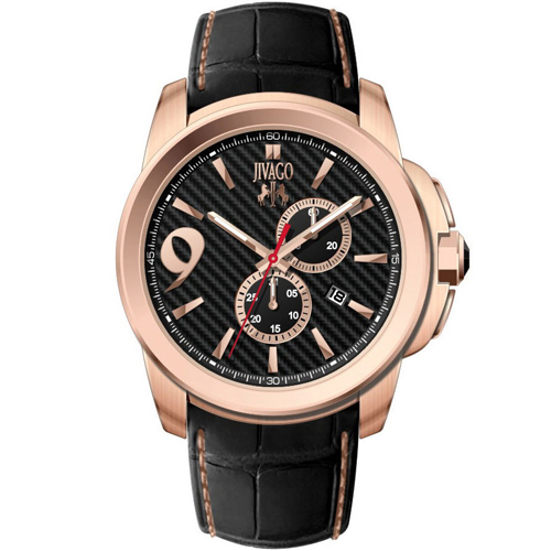 JV1510 Jivago Mens Gliese Swiss  Quartz  Black Band Black Dial