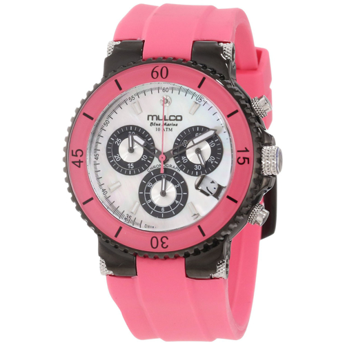 MW3-70604-088 Mulco Womens Blue Marine Pink Band White MOP Dial