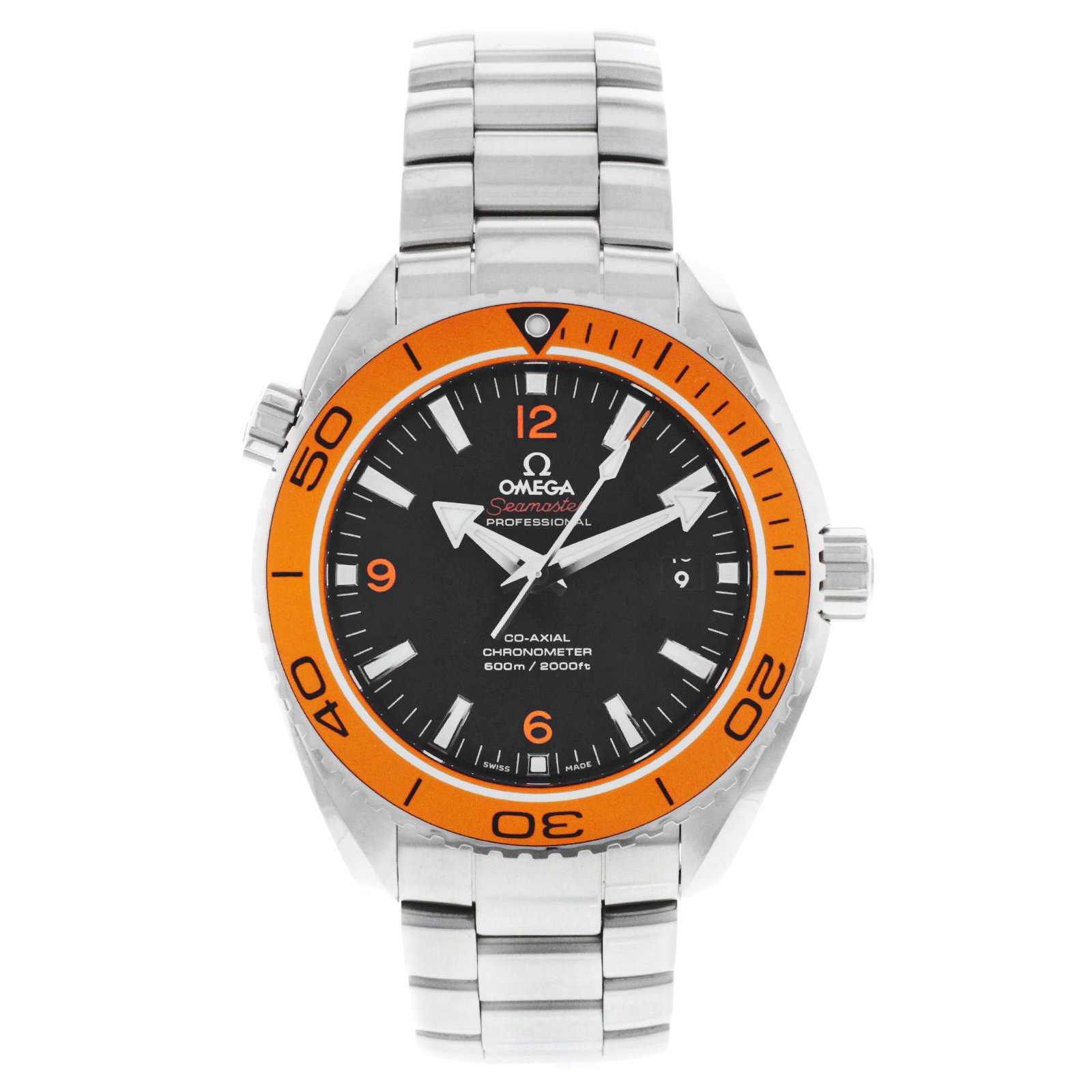 Omega B0072C8TRA B0072C8TRA To UK £3799 to US $4095 Omega Planet Ocean Black Dial Stainless Steel Mens Watch