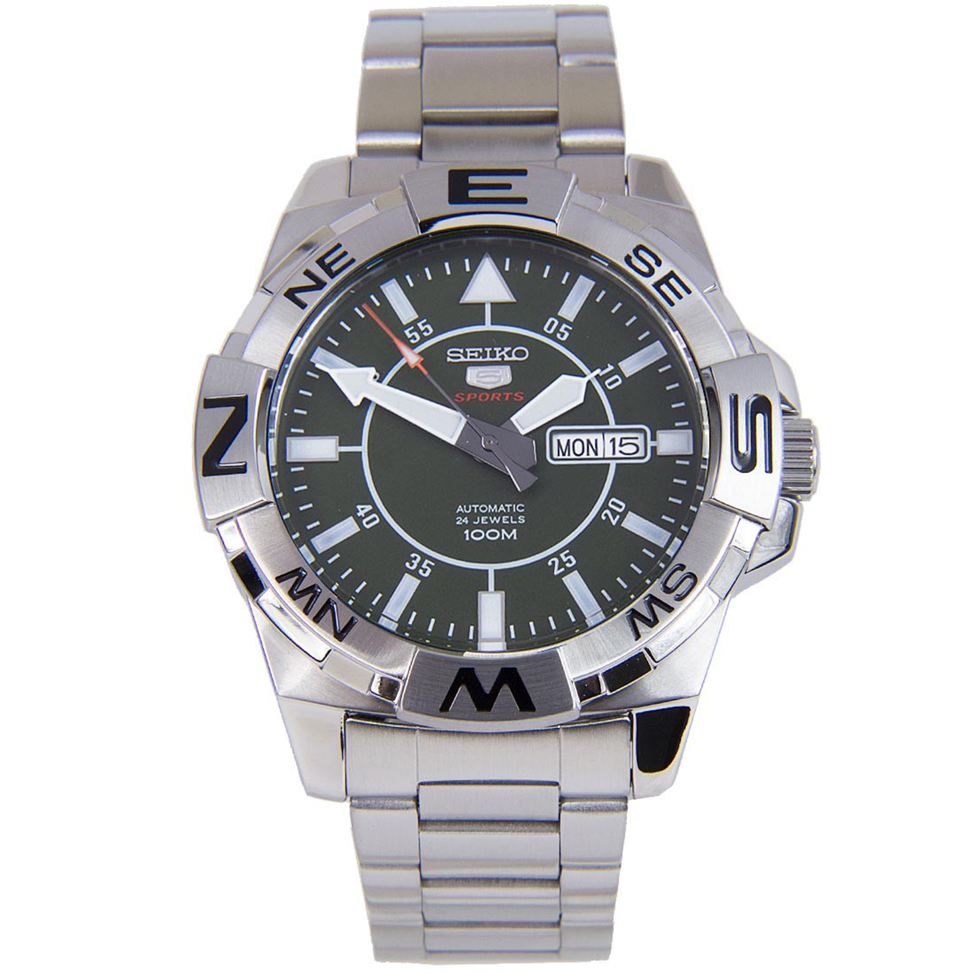 Seiko SE-SRPA59 Seiko Automatic Compass Diver Stainless Steel Green Dial Glassback