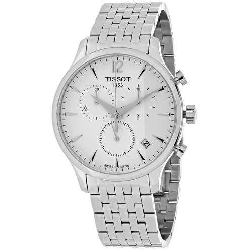 T0636171103700 Tissot Mens Tradition T0636171103700 Silver Band Silver Dial